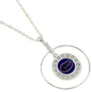 Jewelry - Silver UF Team Gators Necklace University Florida